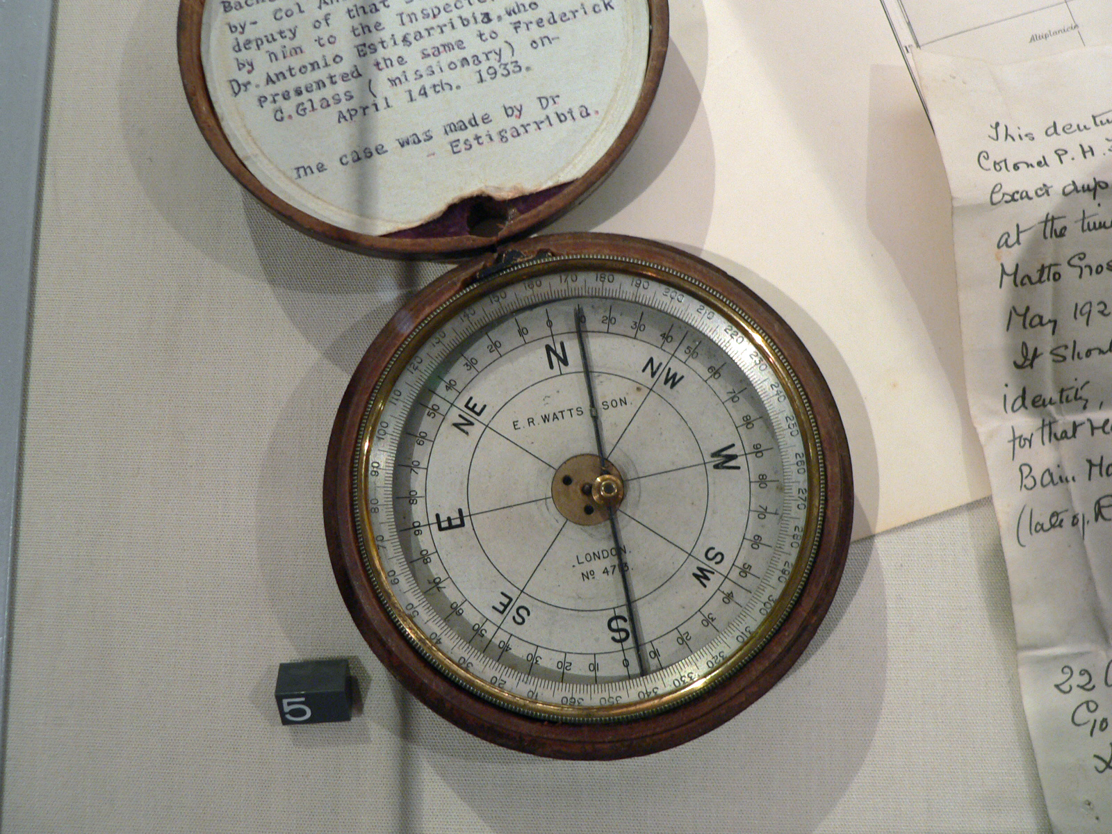 Percy Fawcett's Theodolite Compass