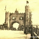 PR4939 - Pictured here is the arch erected in Victoria Parade on the occasion of the laying of the foundation stone of Princess Pier (6th May 1890).
